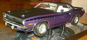 1/18 Highway 61 And Supercar Collectibles -1970 Aar Cuda 340 Six Pack Plum Crazy