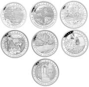 2012 - 2013 Canadian 20 Group Of Seven Full Set 1 Oz 999 Fine Silver 7 Coins