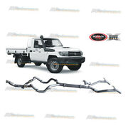 Redback 3 Exhaust Cat And Pipe For Toyota Landcruiser 70 Series Ute 4.5l V8 Twin
