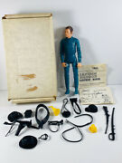 Vtg Marx Johnny West Action Figure Toy In Box Captain Maddox Fort Apache