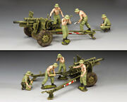 King And Country The Anzac 105mm Gun And Crew Set - Vietnam War Vn076