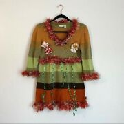 Maurices   Ugly Christmas Dress W/ Tinsel And Ribbon