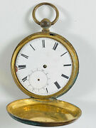 Antique Liverpool Tobias Gold Pocket Watch Four Jewels Parts Or Repair