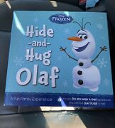 Disney Frozen Hide And Hug Olaf Picture Book And 9 Plush Toy