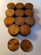 1967 Uk Great Britain British One 1 Penny Elizabeth Ii Coins/lot Of 112 Coins