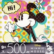 Jigsaw Puzzle Disney Characters Minnie Mouse 500 Pc 14x11 Cardinal S2b