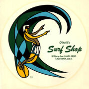 Vintage O'neill's Surf Shop Surfboards Water Slide Surfboard Surfing Decal 60s