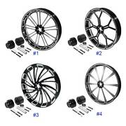 30and039and039x3.5and039and039 Cnc Front Wheel Rim Hub Single Disc Fit For Harley Street Glide 08-20