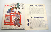 1942 World Series Program And Score Card St. Louis Cardinals Vs New York Yankees