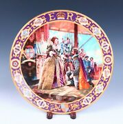 Royal Doulton Elizabeth I And Sir Francis Drake Porcelain Plate Kings Queens Realm