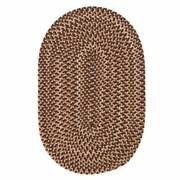 Charlesgate Variegated Brown Wool Blend Country Farmhouse Oval Round Braided Rug