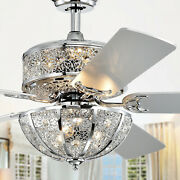 Silver Orchid Wilson Chrome 52-inch 5-blade Lighted Ceiling Fan W/ Metal Bowl