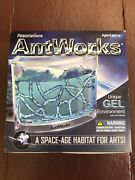 Antworks Illuminated Blue Gel Led Ant Farm Environment Fascinations Brand New