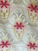 Art Deco / Nouveau Stylized Floral French Fabric Drape Bed Cover Upholstery Etc