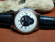 Rare Vintage Movado Triple Date Calendar Moon Dial Manual Wind Manand039s Watch