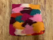 Vintage Felted Wool Purse Bag Clutch Tote Rising Tide Nepal Multi Color