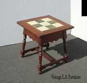 Vintage Monterey Mission Style Tile Top Side Table End Table French Country