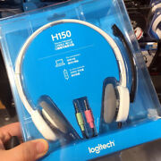Logitech H150 Wired Headset Rotating Stereo Headphones Noise-cancelling White