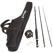 Fly Fishing Combo Reel Rod Starter Cast Set Kit Graphite 8and039 Pole W/carry Bag New