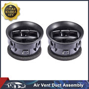 2pcs 2009-2014 Ford F150 Xl Stx Dashboard Ac Heater Air Vent Louvre Black
