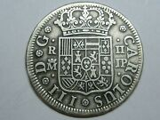 Spain 1762 Madrid 2 Real Charles Iii Spanish Colonial Silver Coin Rare