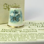 Thimble Collectors Club, Dandelion Clocks And Butterflies By Spode, England