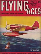 1941 Flying Aces June Pulp - Me Fame - Fact Or Fancy Lure Of The Liberators