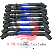 Dragon Fire Blue 40ohm 10mm Plug Wire Set For 99-17 Chevy Ls Round / Square Coil