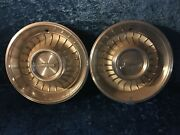 2 16 1/2 Vintage 1962 Cadillac Hubcaps White Paint - Fast Free Shipping