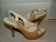 New Wob Klub Nico Heel Size 5 M Khaki Leather Made In Brazil Solid 340