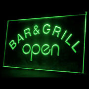 Bar And Grill Open Beer Cafe Bbq Display Led Light Sign Home Decoration