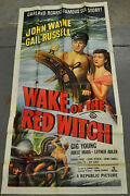 Wake Of The Red Witch R52 Orig 41x79 3-sht Movie Poster John Wayne Gail Russell