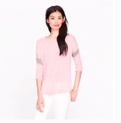 J. Crew Collection Pink Featherweight Cashmere Armband Sweater Size Medium