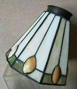 1 Vintage Leaded Glass Mission Shades Table Lamp Parts Hanging Arts And Crafts