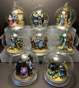 1997 Bradford Exchange Wizard Of Oz Ornament Collection Full Set Of 8 Issue 1-4