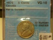 Canada 5andcent 1926 Vg 10 Sc. Cccs