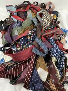 Over 10lbs Neckties Vintage Quilt Cutter Craft Neck Tie Silk Polyester And More