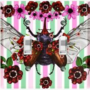 Metal Light Switch Cover Wall Plate Butterfly Beetle Red Pink Flowers But008