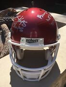 Full Size Ou Football Helmet Signed By Barry Switzer And Bob Stoops