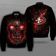San Francisco 49ers Pilot Bomber Jacket Flying Tigers Flight Thicken Coat Gifts