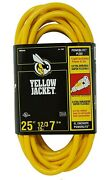 25' 12/3 Yellow Jacket Extension Cord Lighted End Sjtw Heavy Duty 2883 Nip