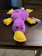 Patti The Platypus Beanie Baby 1993 Ty With Tag Errors,pvc Pellets