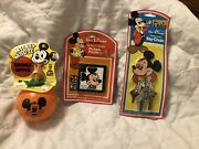 Vintage Mickey Orange Sipper, Picture Puzzle And Keychain Rare Sealed