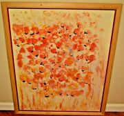 Coco Trabichet Modern Post Impressionist Floral Abstract Still Life Oil Painting