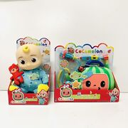 """Cocomelon Musical Bedtime Jj 10"""" Soft Plush Doll W/ Musical Doctor Check Up Set"""