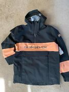 Quiksilver Anniversary Snow Jacket Large Brand New With Tags
