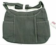 Thirty One Free To Be Carry All Purse Crossbody Bag 31 In Black Twill Stripe