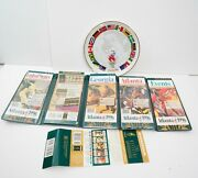 1996 Atlanta Usa Olympic Official Souvenir Vintage Guide Map And Collectors Plate