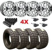 20x12 Polished Fuel Wheels Tires 35 12.50 20 Mud American Aluminum Xd Tis