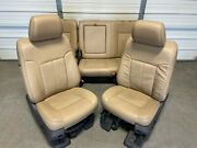 1999-2016 Ford F250 F350 F450 Super Duty Front And Rear Seats Tan Leather